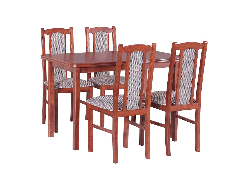 DREWMIX Sestava stůl Max IV + 4 ks židle Boss VII