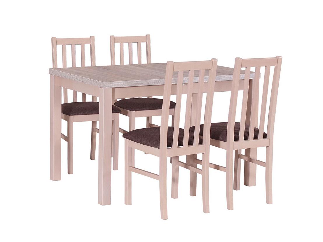 DREWMIX Sestava stůl Max V + 4 ks židle Boss X