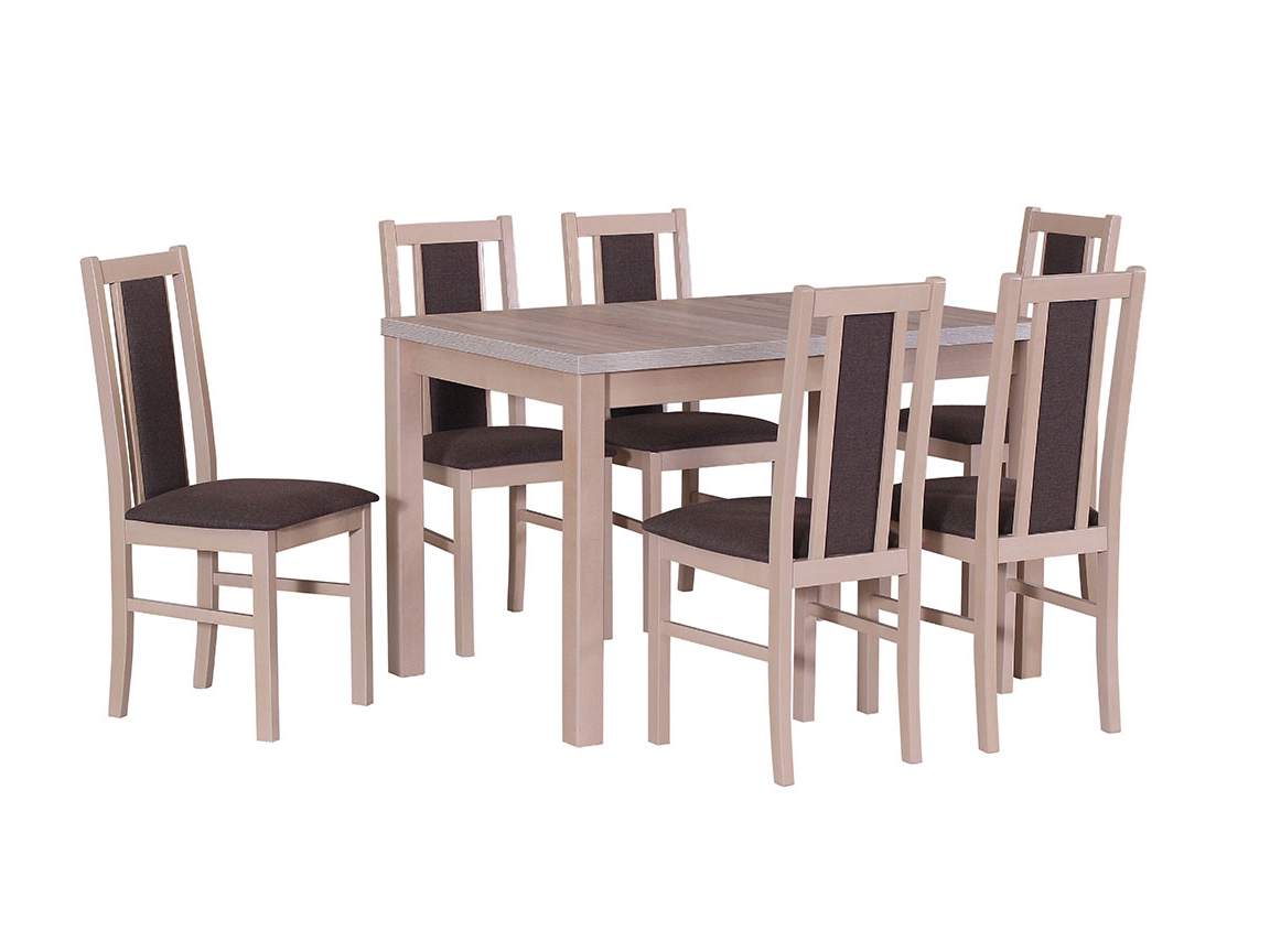 DREWMIX Sestava stůl Max V + židle Boss XIV