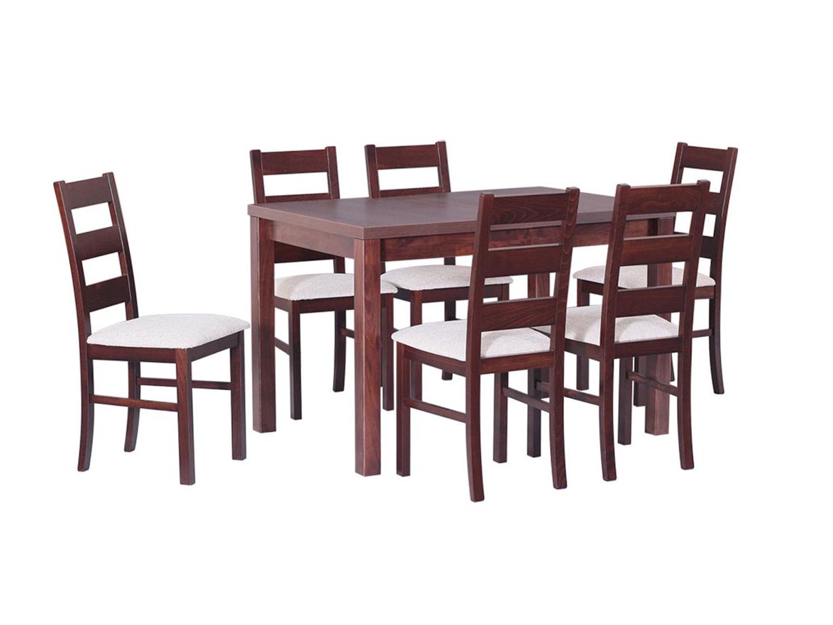 DREWMIX Sestava stůl Max V + 6 ks židle Nilo VII