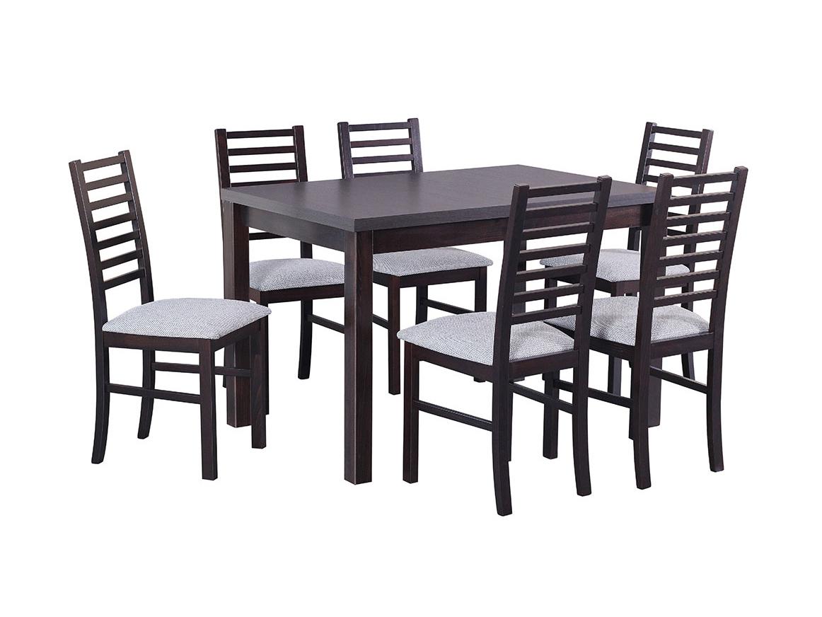 DREWMIX Sestava stůl Max V + 6 ks židle Nilo IX