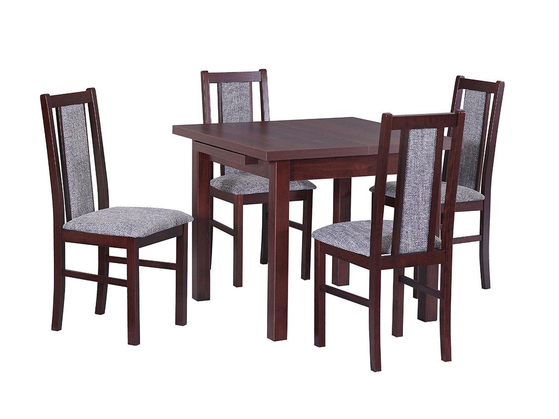 DREWMIX Sestava stůl Max VII + 4 ks židle Boss XIV