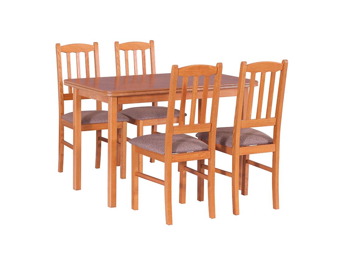 DREWMIX Sestava stůl Max XI + židle Boss III