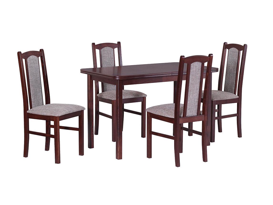 DREWMIX Sestava stůl Max XI + židle Boss VII