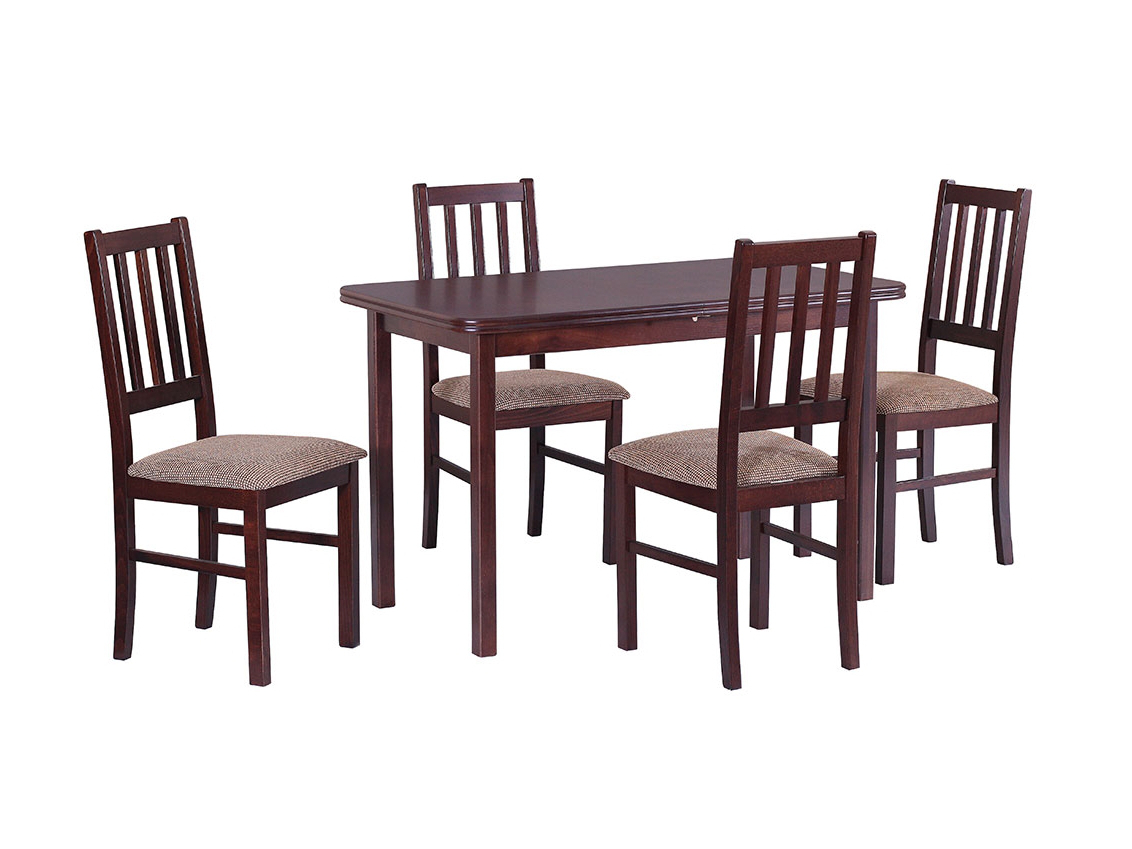 DREWMIX Sestava stůl Max XI + 4 ks židle Boss IV