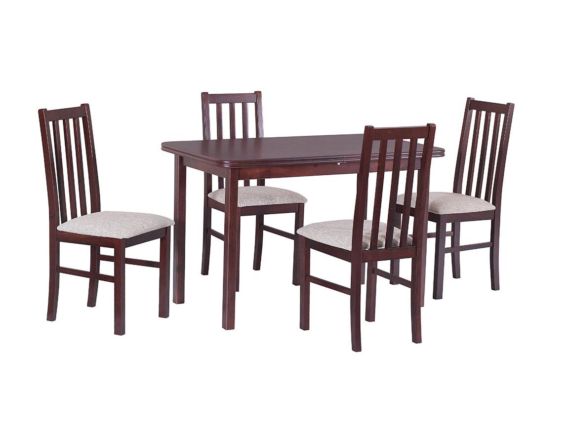 DREWMIX Sestava stůl Max XI + 4 ks židle Boss X