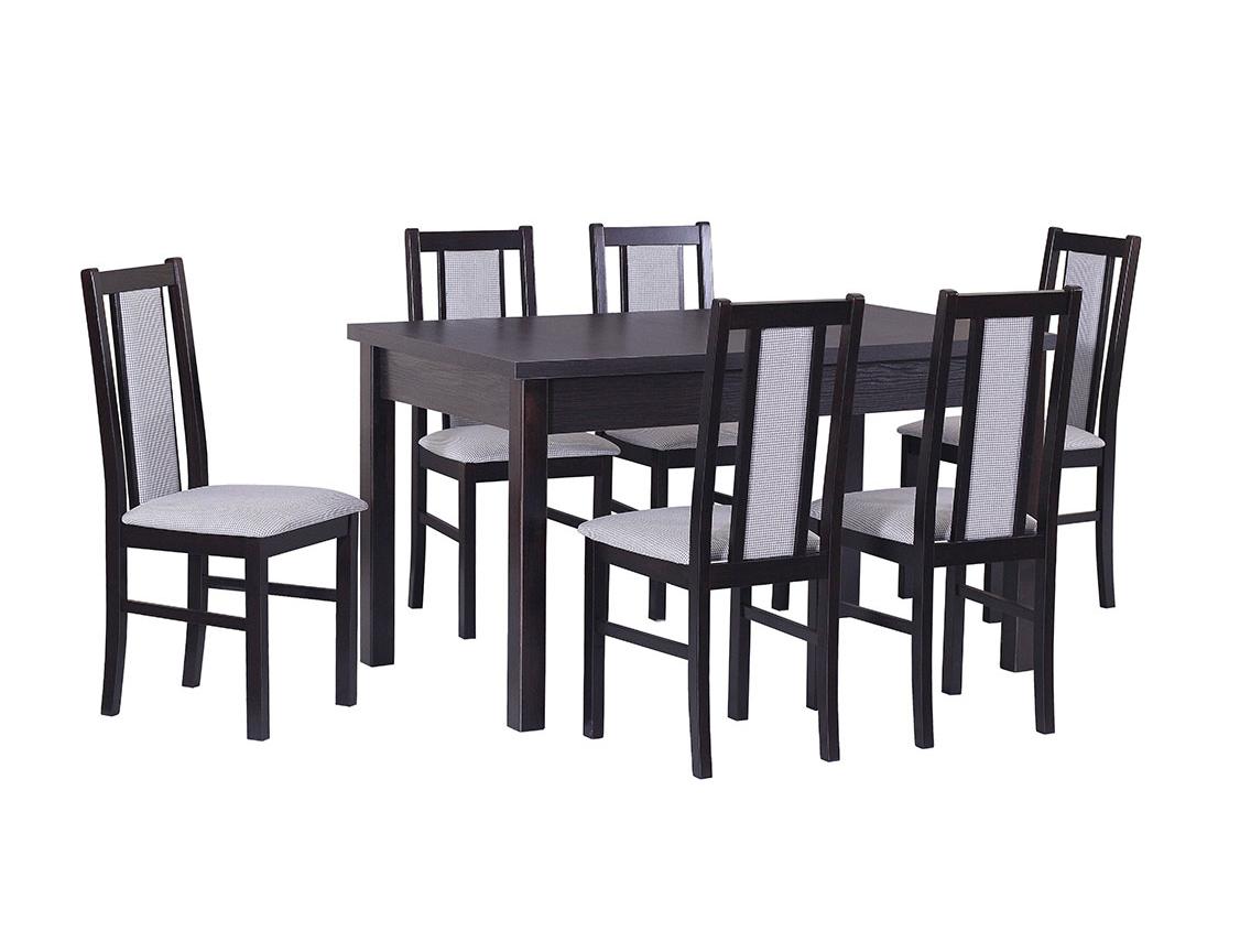 DREWMIX Sestava stůl Modena I + 6 ks židle Boss XIV