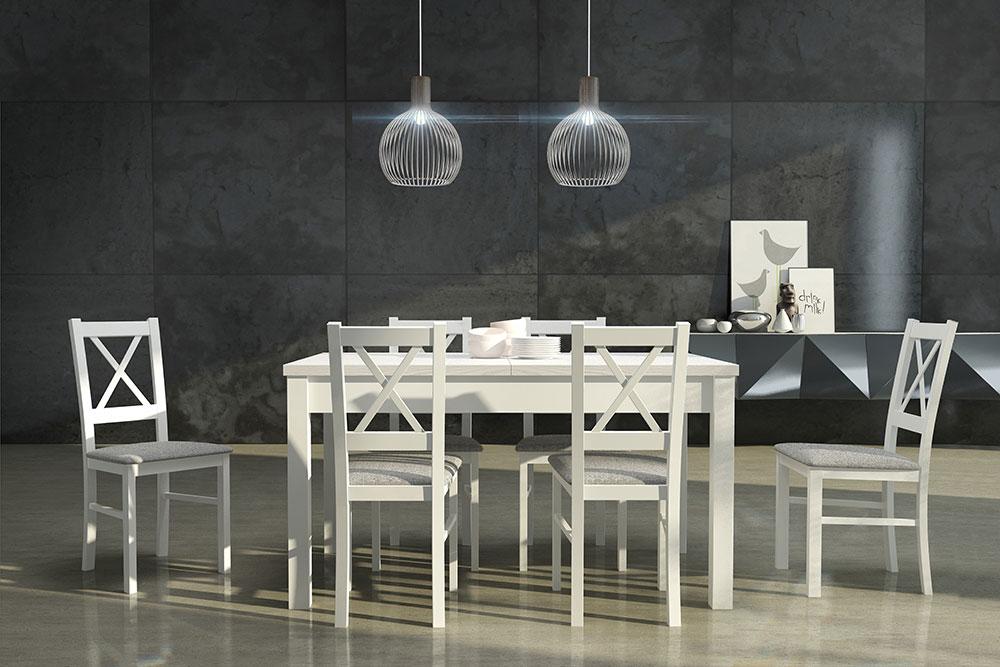 DREWMIX Sestava stůl Modena I + 6 ks židle Nilo X