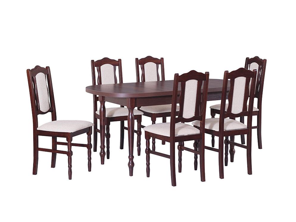 DREWMIX Sestava stůl ST I + židle Boss I