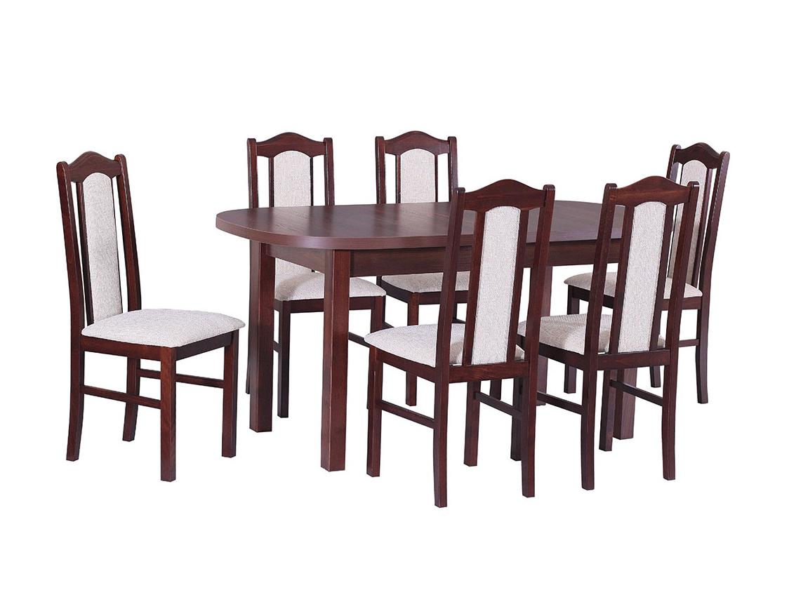 DREWMIX Sestava stůl Wenus I + 6 ks židle Boss II