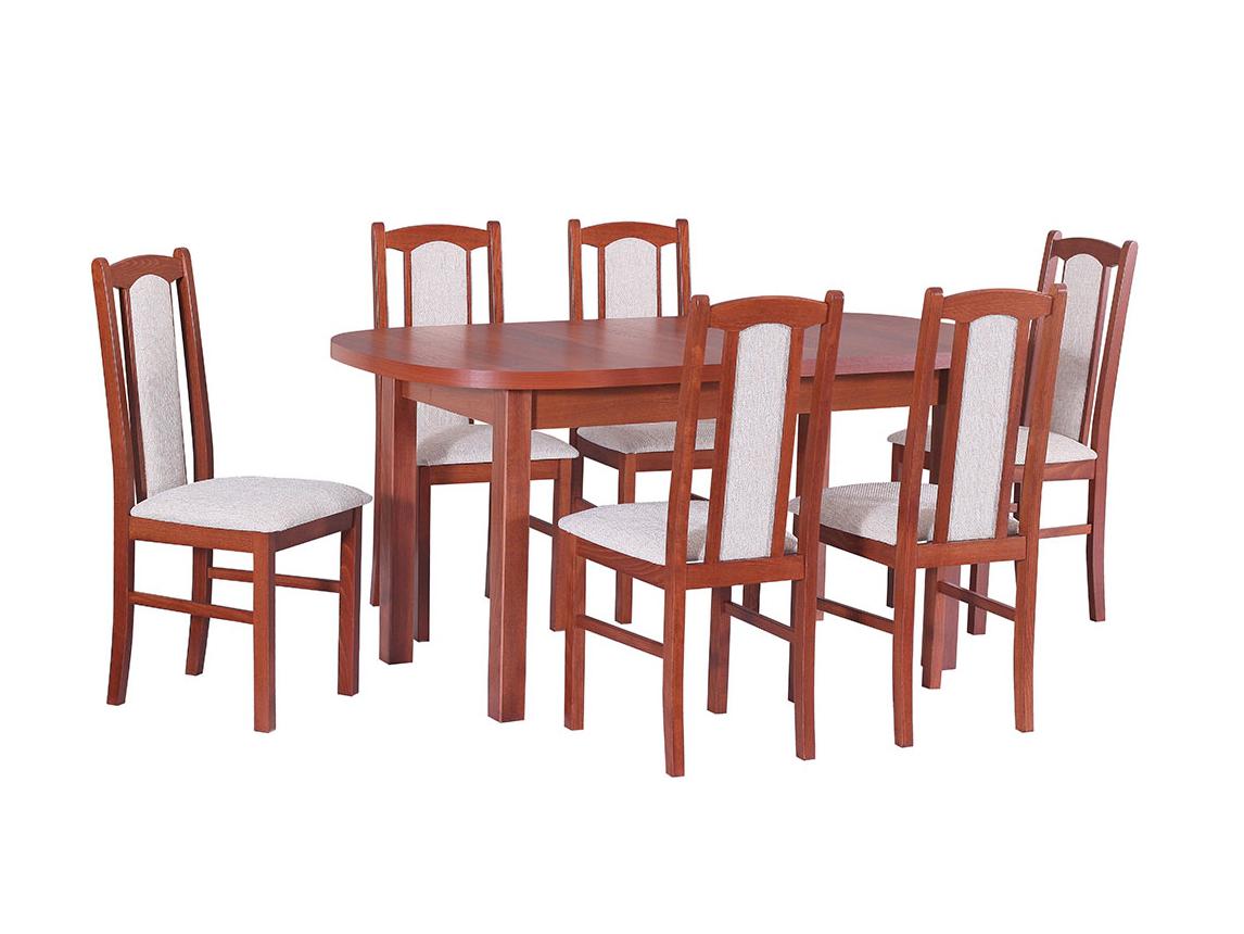 DREWMIX Sestava stůl Wenus I + židle Boss VII