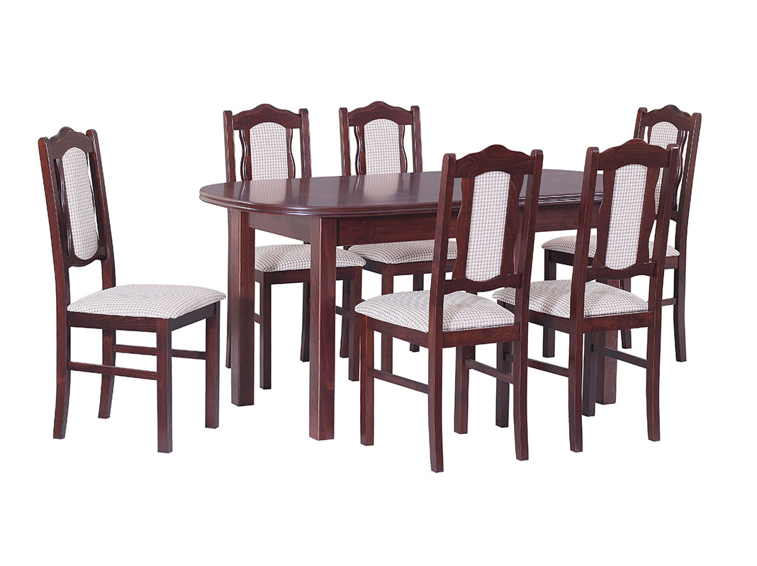 DREWMIX Sestava stůl Wenus III + židle Boss VI