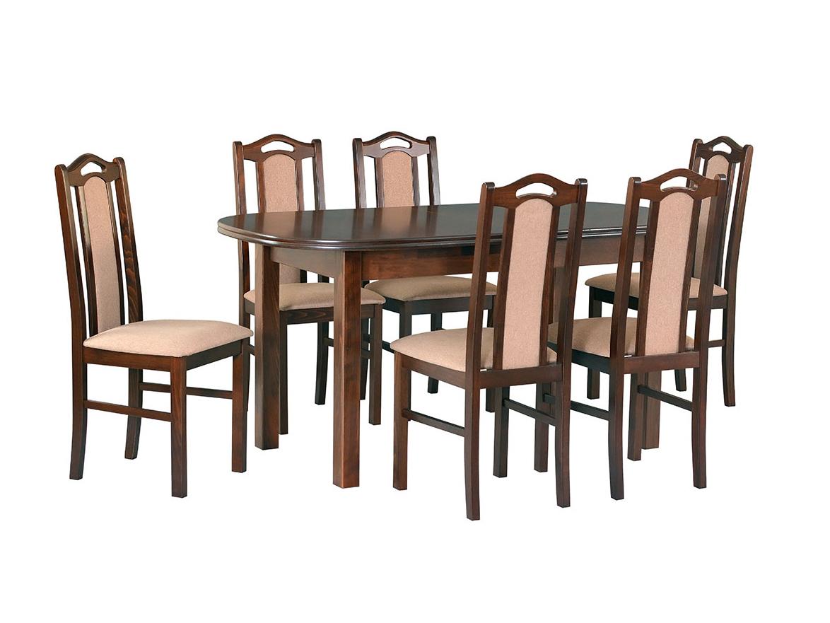 DREWMIX Sestava stůl Wenus III + 6 ks židle Boss IX