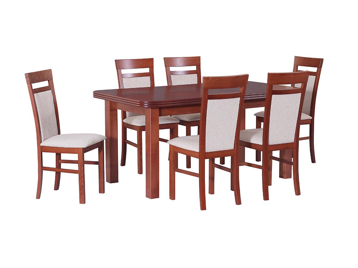 DREWMIX Sestava stůl Wenus V + 6 ks židle Milano VI