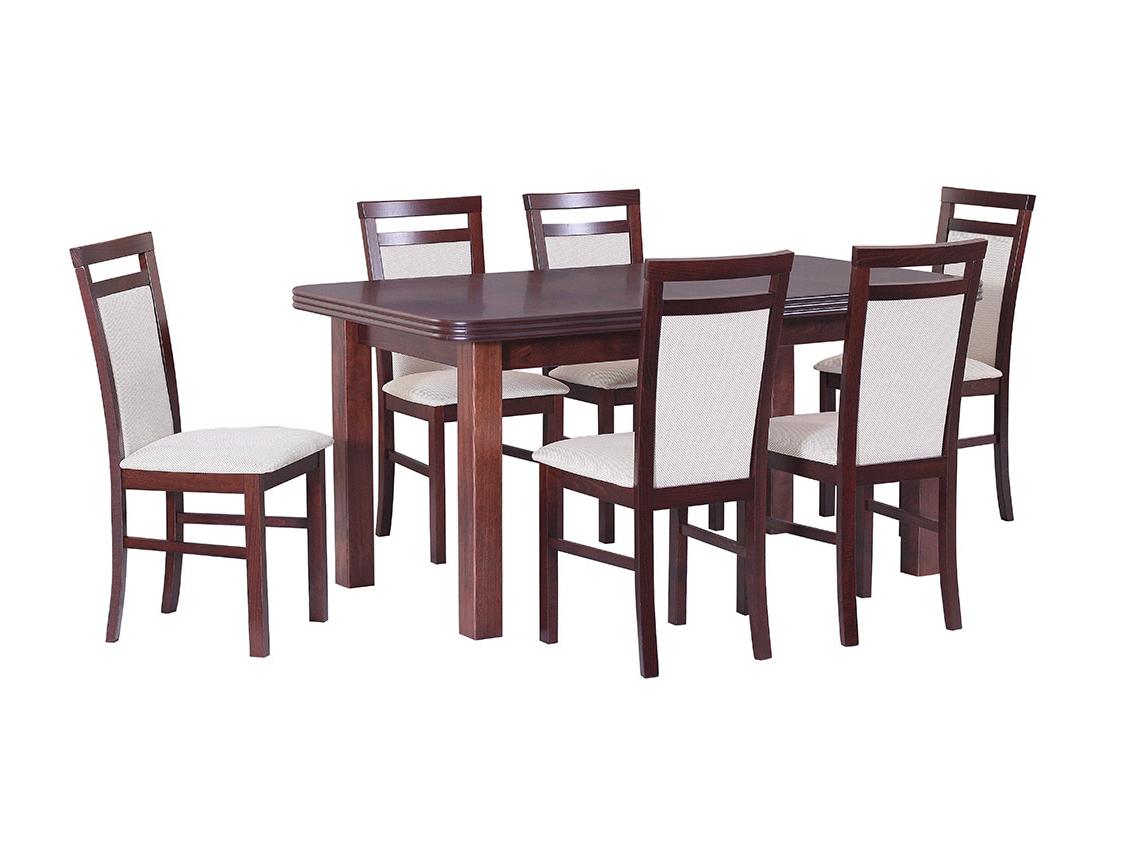 DREWMIX Sestava stůl Wenus V + 6 ks židle Milano V