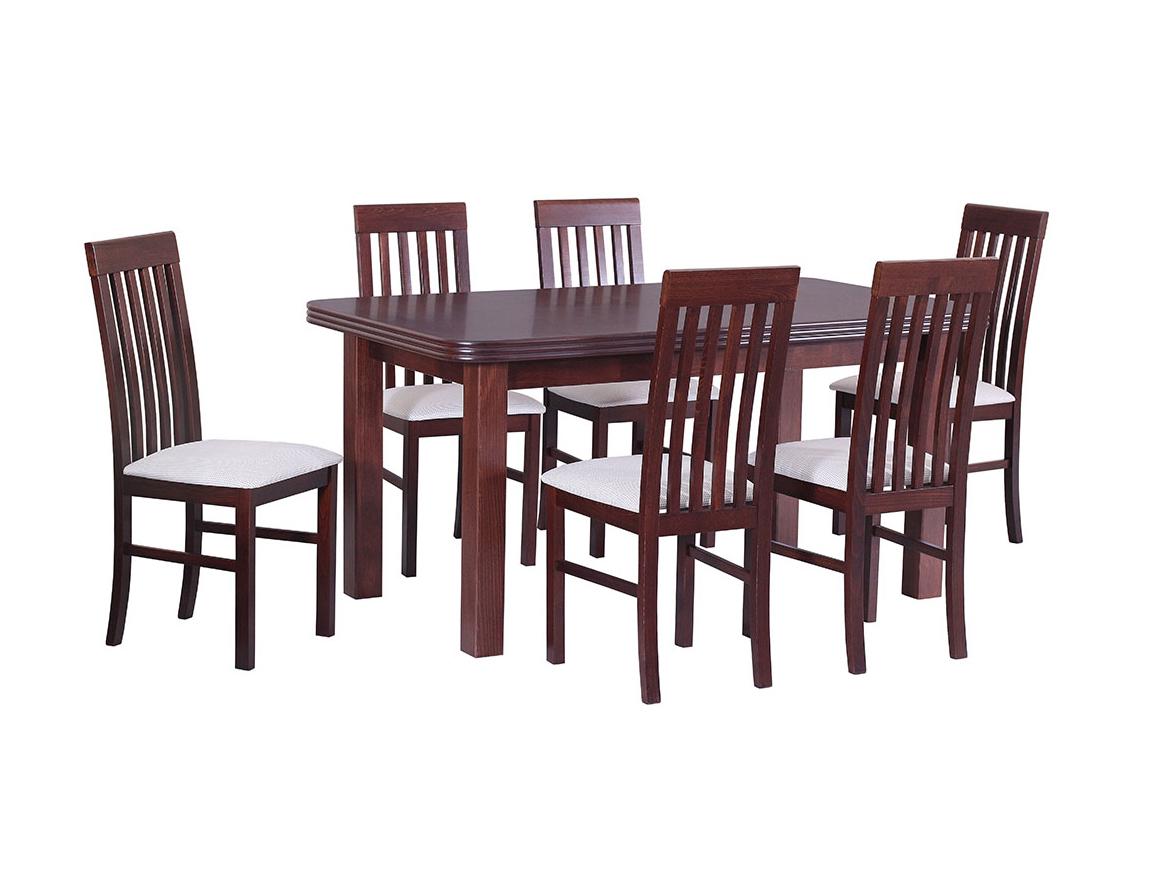 DREWMIX Sestava stůl Wenus V + 6 ks židle Nilo I