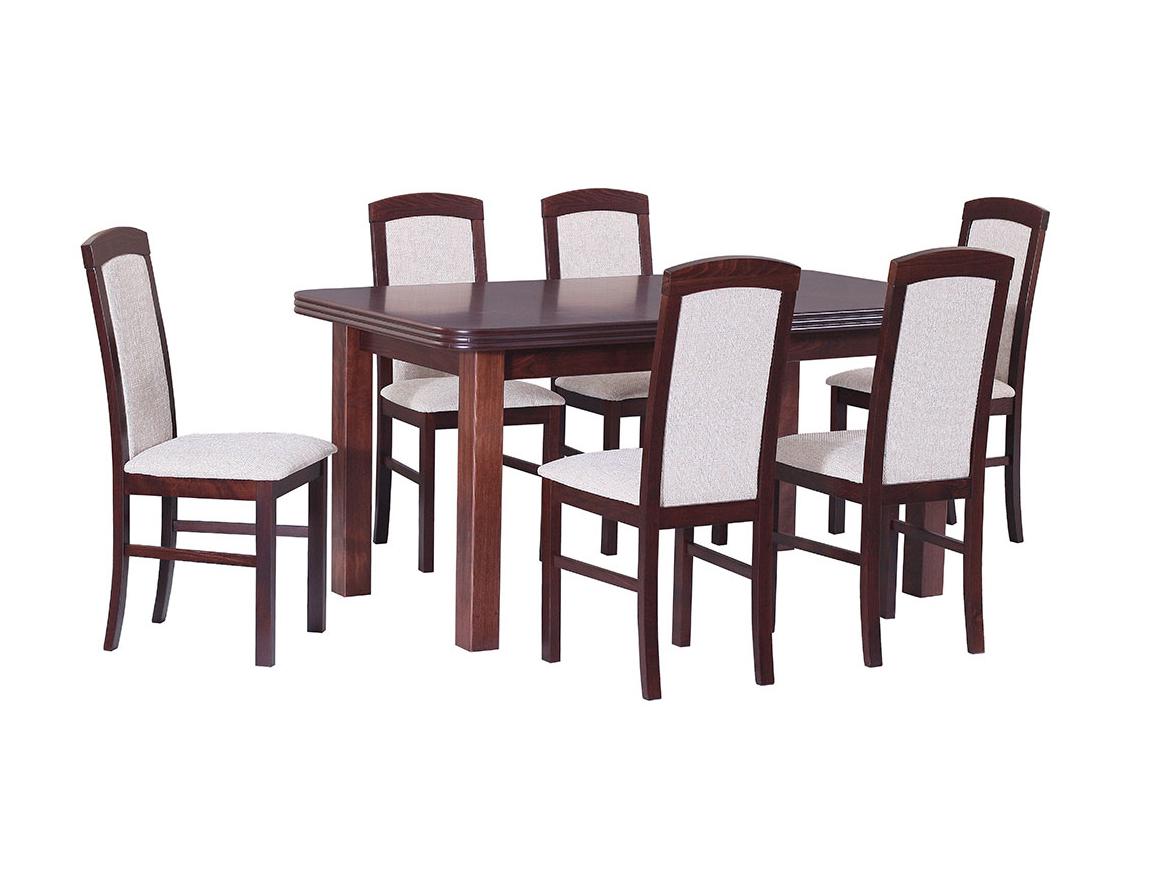 DREWMIX Sestava stůl Wenus V + 6 ks židle Nilo V