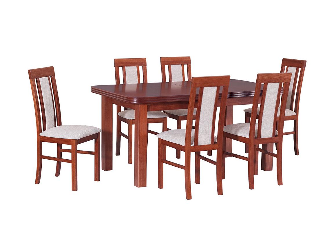 DREWMIX Sestava stůl Wenus V + 6 ks židle Nilo II