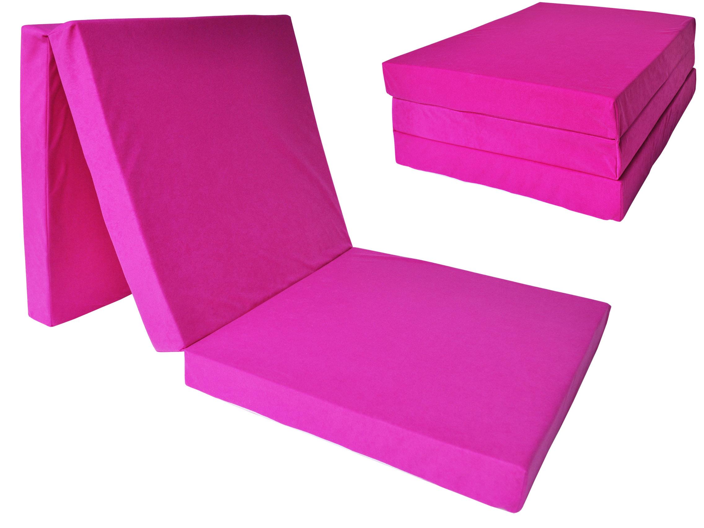 Fimex Skládací matrace pro hosty Fun růžová