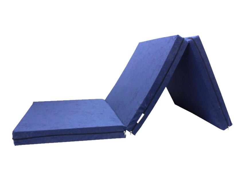 e-matrace.com Skládací matrace pro hosty modrá 8 cm 80x195 cm