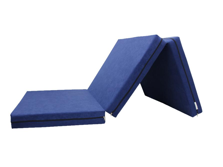 e-matrace.com Skládací matrace pro hosty modrá 10 cm 90x195 cm