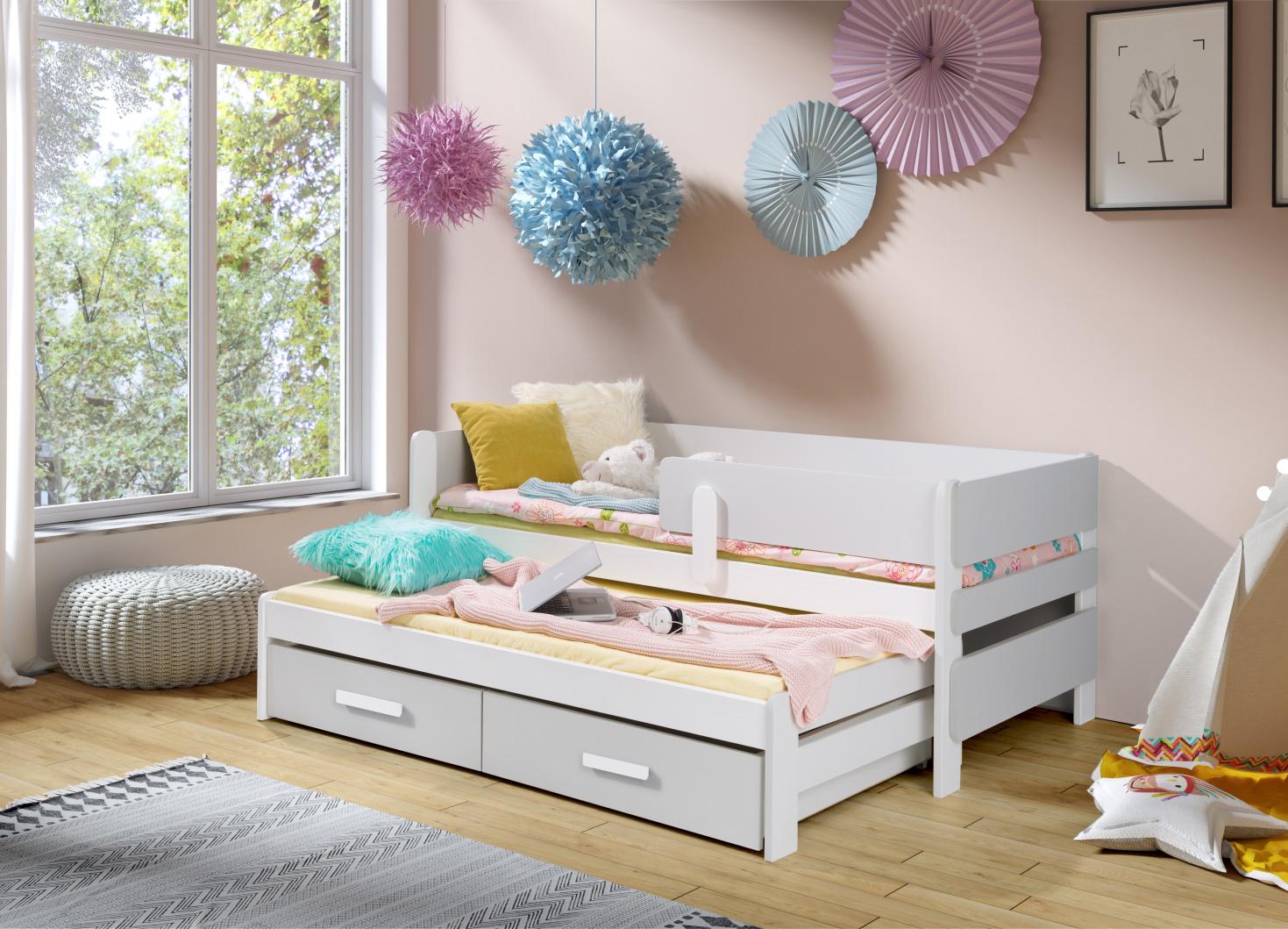 MebloBed Rozkládací postel Solano s úložným prostorem