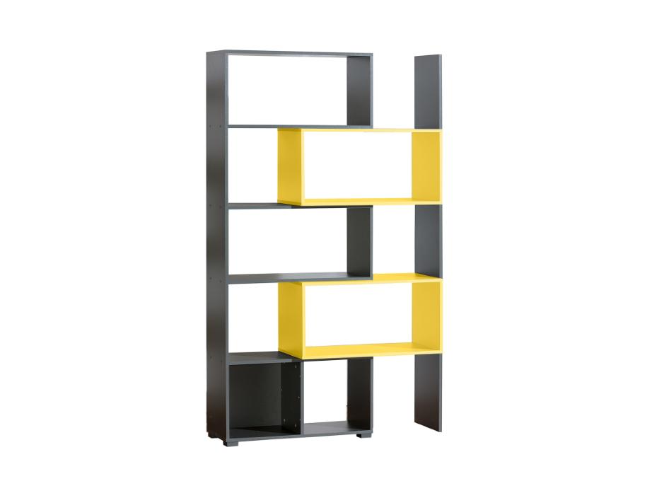 Dolmar Regál Cubico CU11 80x200x34 cm Antracit / žlutá