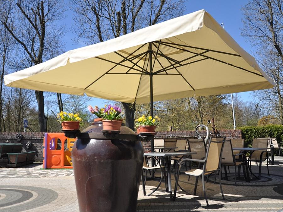 Home&Garden Slunečník čtvercový 500 cm béžový